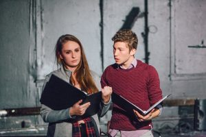 Taylor Stark as Lena and Alec Steinhorn as Mason