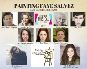 Cast of Painting Faye Salvez at NYMF 2017