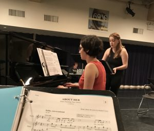 "Rozi Baker (Taylor) sings ""About Her"" in Rehearsal"