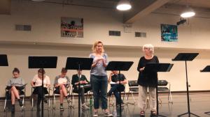 "Jennifer Mudge (Meredith) and Mimi Turque (Lynda) sing ""Falling Apart"""